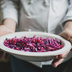 Red Cabbage Braised with Cranberries