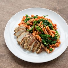 Fusilli with Marinated Grilled Chicken